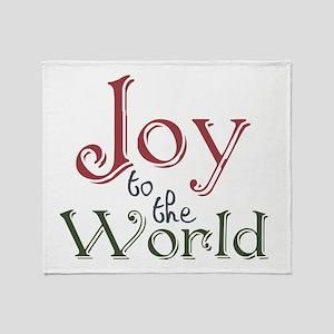 Joy To The World Throw Blanket