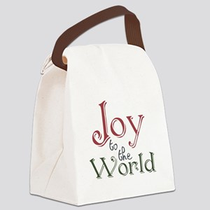 Joy to the World Canvas Lunch Bag