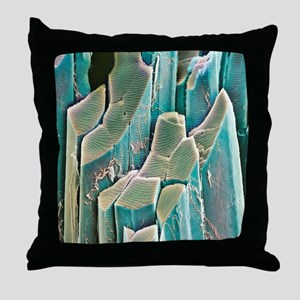 Muscle fibres, SEM Throw Pillow