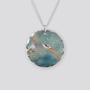 Seagull Necklace Circle Charm