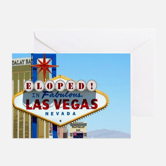 Eloped In Las Vegas Greeting Card