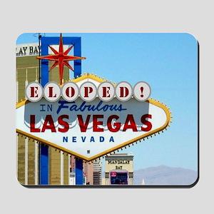 Eloped In Las Vegas Mousepad