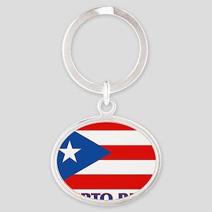 Puerto Rico - PR Oval Keychain