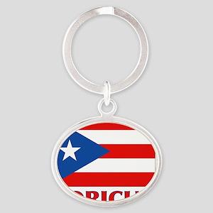 Puerto Rico - PR - Boricua Oval Keychain