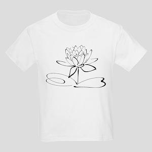 Sketch Outline of Lotus Blossom T-Shirt