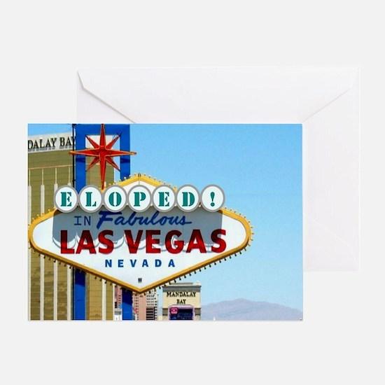 Eloped In Las Vegas Card Greeting Card