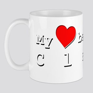 My Heart Belongs To Clare Mug