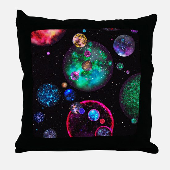 Multiple universes Throw Pillow