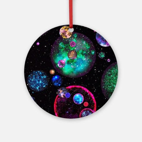 Multiple universes Round Ornament
