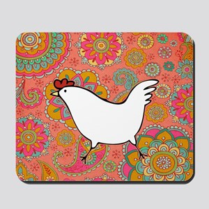 Paisley Chicken Mousepad