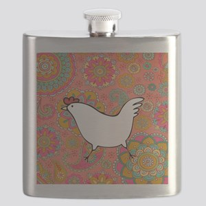 Paisley Chicken Flask