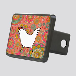 Paisley Chicken Rectangular Hitch Cover