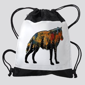 PAINT FOR WOLF Drawstring Bag