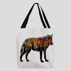 PAINT FOR WOLF Polyester Tote Bag