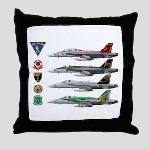 Carrier Air Wing FIVE Throw Pillow