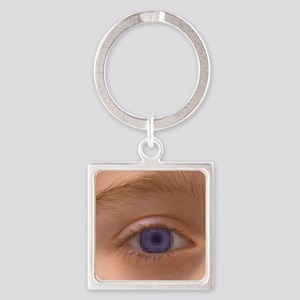 Pixellated eye Square Keychain