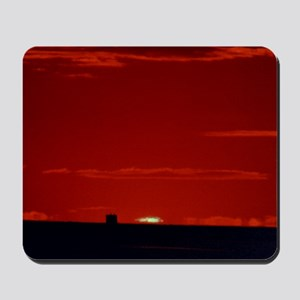 Photograph of the green flash effect Mousepad