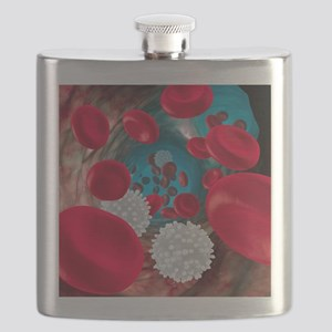 Red and white blood cells Flask