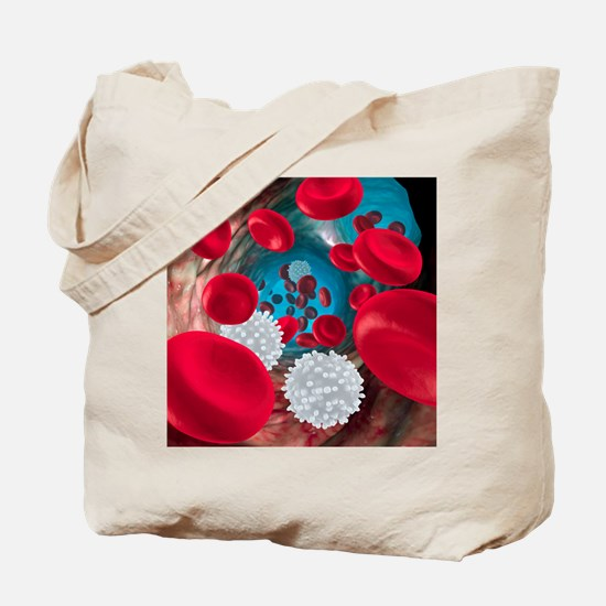 Red and white blood cells Tote Bag