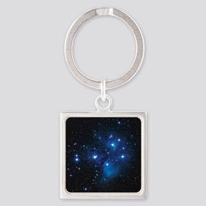 Pleiades star cluster Square Keychain