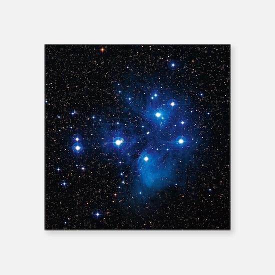 "Pleiades star cluster Square Sticker 3"" x 3"""