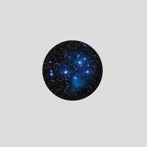 Pleiades star cluster Mini Button