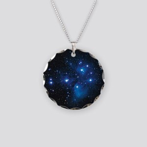 Pleiades star cluster Necklace Circle Charm