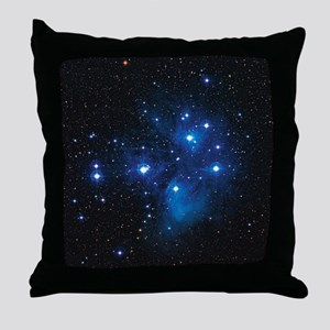 Pleiades star cluster Throw Pillow