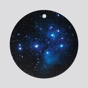 Pleiades star cluster Round Ornament