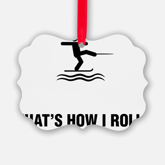 Waterskiing-ABG1 Ornament