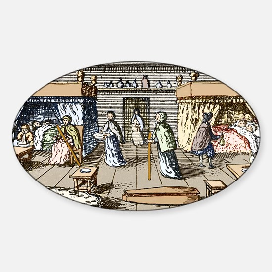 Plague victims, 17th century London Sticker (Oval)