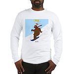 Snowboarding Bear Long Sleeve T-Shirt