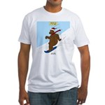 Snowboarding Bear Fitted T-Shirt