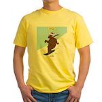 Snowboarding Bear Yellow T-Shirt