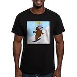 Snowboarding Bear Men's Fitted T-Shirt (dark)