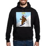 Snowboarding Bear Hoodie (dark)