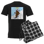 Snowboarding Bear Men's Dark Pajamas