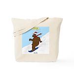 Snowboarding Bear Tote Bag