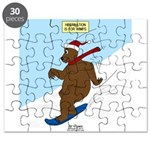 Snowboarding Bear Puzzle
