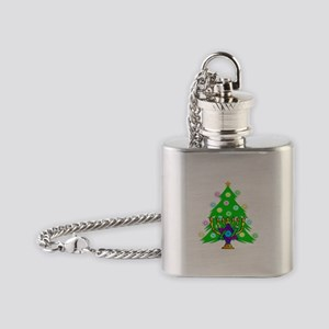 Christmas Hanukkah Interfaith Flask Necklace