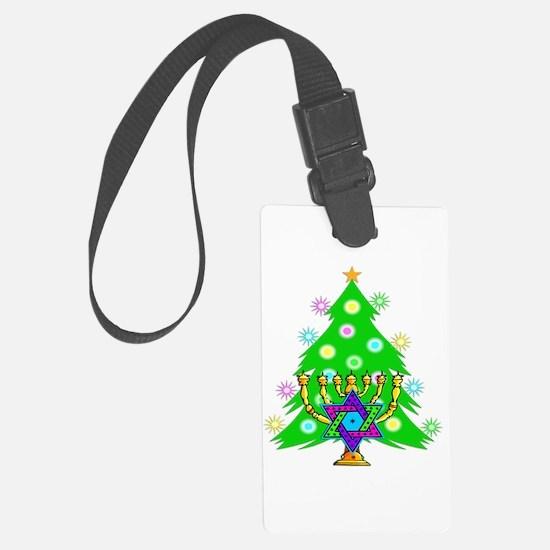 Christmas Hanukkah Interfaith Luggage Tag