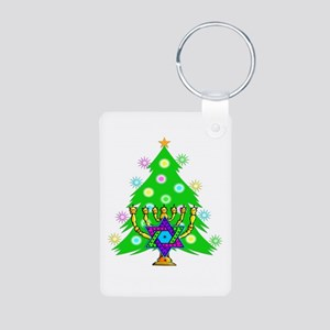 Christmas Hanukkah Interfa Aluminum Photo Keychain