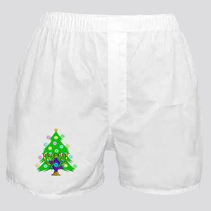 Christmas Hanukkah Interfaith Boxer Shorts