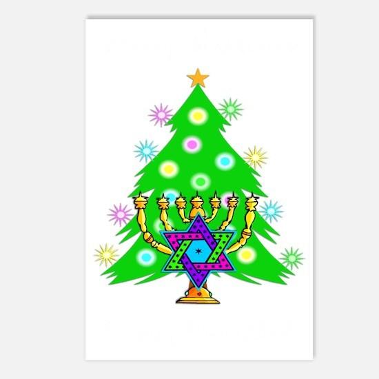 Christmas Hanukkah Interf Postcards (Package of 8)