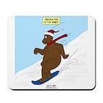 Snowboarding Bear Mousepad