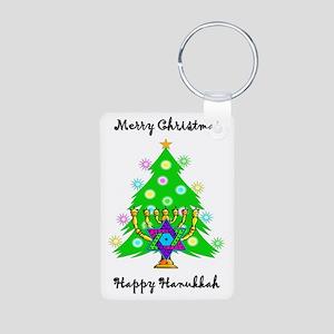 Christmas Hanukkah Interfa Aluminum Photo Keychain