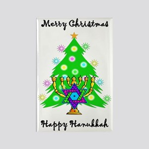 Christmas Hanukkah Interfaith Rectangle Magnet