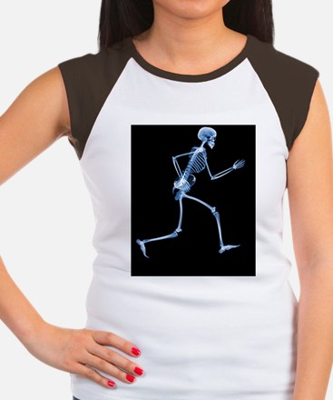 Skeleton playing rugby Women's Cap Sleeve T-Shirt