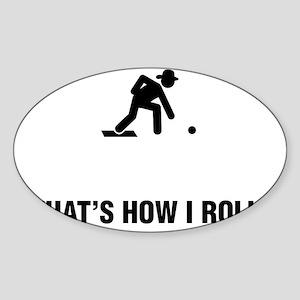 Lawn-Bowl-ABG1 Sticker (Oval)