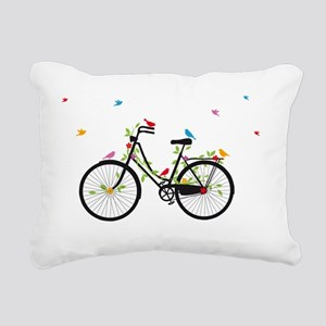 Old vintage bicycle with Rectangular Canvas Pillow